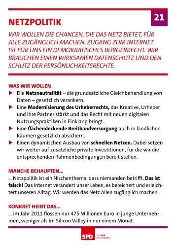 netzpolitik 21 - SPD