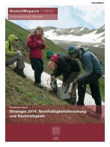 AlumniMagazin 1/13 - Alumni Basel