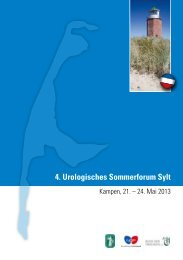 Programm des 14. Sommerforums - Bund der Urologen eG