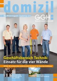 Domizil, Ausgabe September 2013 - GGH