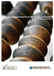 Human Rights in the Global Economy: Report from a ... - The ICHRP