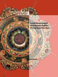 Local Government and Human Rights: Doing Good ... - The ICHRP