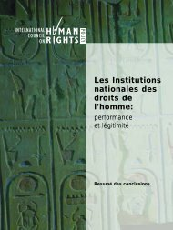 Les Institutions nationales des droits de l'homme: - The ICHRP