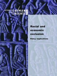 Racial and Economic Exclusion: Policy Implications - The ICHRP
