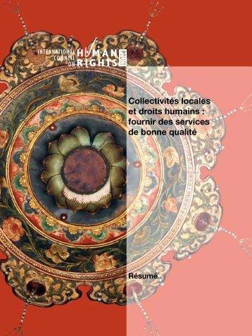 Collectivités locales et droits humains : fournir des ... - The ICHRP