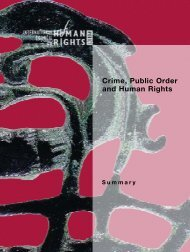 Crime, Public Order and Human Rights - The ICHRP
