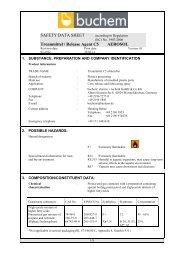 Safety Data Sheet - Buchem Chemie + Technik Gmbh und Co. KG