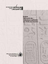 Evaluer l'efficacité des institutions nationales des droits de l'homme
