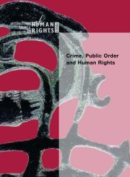 Crime, Public Order and Human Rights (2003) - The ICHRP