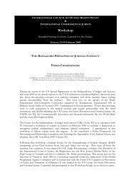 120B - The Bangalore Principles of Judicial Conduct ... - The ICHRP