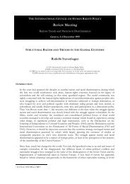 112 - Structural Racism and Trends in the Global ... - The ICHRP