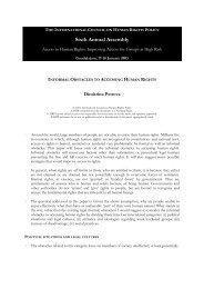 123 - Informal Obstacles to Accessing Human Rights ... - The ICHRP