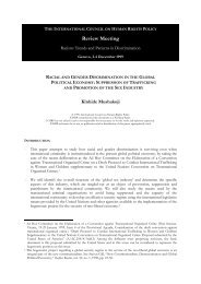 112 - Racial and Gender Discrimination in the Global ... - The ICHRP
