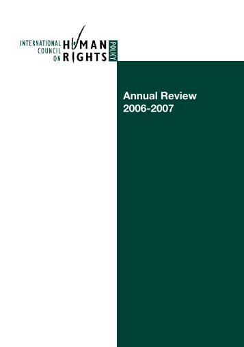 Annual Review 2006-2007 - The ICHRP