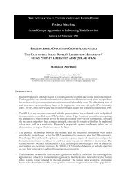 105 - Sudan - Approaches to Armed Groups Kuol ... - The ICHRP