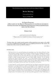 201 - Universal Jurisdiction - Ex Parte Pinochet Cook ... - The ICHRP