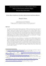 Public Health & Social Control - The ICHRP
