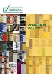 Activity Report 2011–2012 - The ICHRP