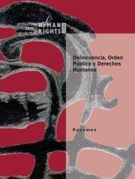 Delincuencia, Orden Público y Derechos Humanos - The ICHRP