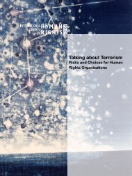 Talking about Terrorism – Risks and Choices for Human - The ICHRP