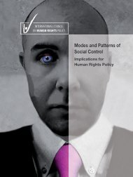 Modes and Patterns of Social Control: Implications for ... - The ICHRP