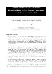 118 - Human Rights in Foreign Policy - Current ... - The ICHRP