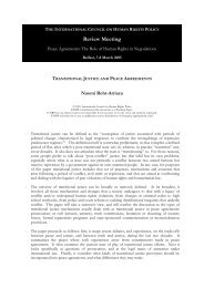 128 - Transitional Justice and Peace Agreements Roht ... - The ICHRP