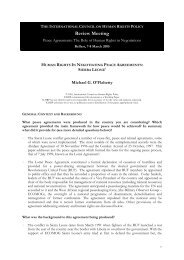 Human Rights in Negotiating Peace Agreements ... - The ICHRP