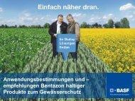 Gewässerschonender Einsatz von Bentazon - BASF Pflanzenschutz ...
