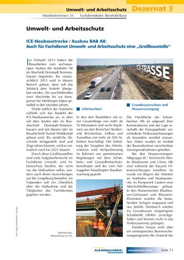 Umwelt- und Arbeitsschutz - Alb-Donau-Kreis