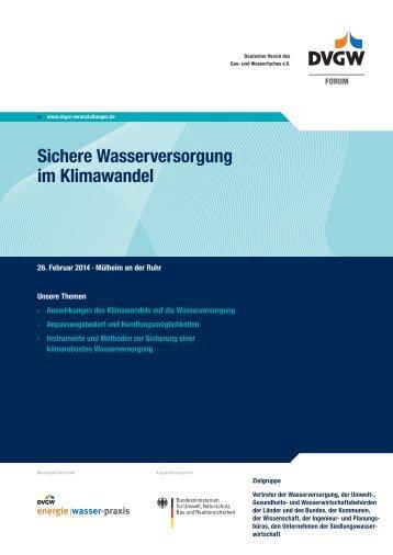 Information und Anmeldung (PDF, 120 KB) - DVGW - Deutscher ...