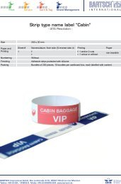 """Strip type name label """"Cabin"""" - BARTSCH International GmbH"""