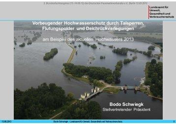 Vorbeugender Hochwasserschutz durch Flutungspolder, Talsperren ...