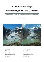 Klimaveränderung: Auswirkungen auf die Gewässer - Eawag