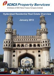 Hyderabad Residential Real Estate Overview January 2013