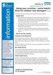 Using your crutches - ICID - Salisbury NHS Foundation Trust