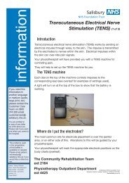 (TENS) (1 of 3) - ICID - Salisbury NHS Foundation Trust