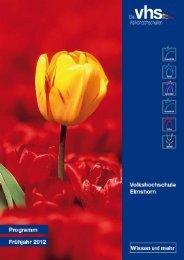VHS Programm 2012-1-a - VHS Elmshorn