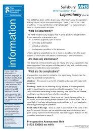 Laparotomy - ICID - Salisbury NHS Foundation Trust