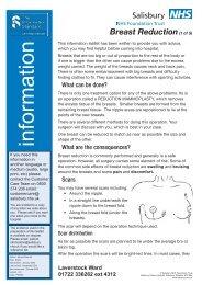 Breast Reduction - ICID - Salisbury NHS Foundation Trust