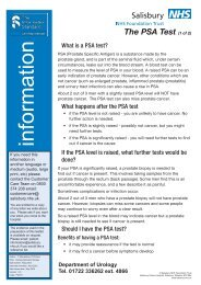 information - ICID - Salisbury NHS Foundation Trust