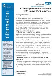Cushion provision - ICID - Salisbury NHS Foundation Trust
