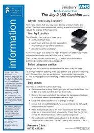 J2 Cushion - ICID - Salisbury NHS Foundation Trust