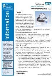 PEP device - ICID - Salisbury NHS Foundation Trust