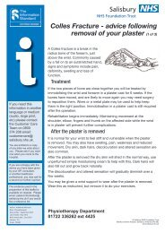 Colles Fracture - ICID - Salisbury NHS Foundation Trust