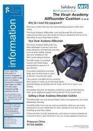 Vicair AllRounder - ICID - Salisbury NHS Foundation Trust