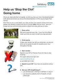 Going home - ICID - Salisbury NHS Foundation Trust