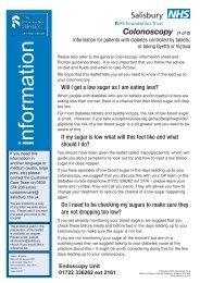 Bowel preparation for colonoscopy - patient information