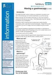 Having a gastroscopy - ICID - Salisbury NHS Foundation Trust