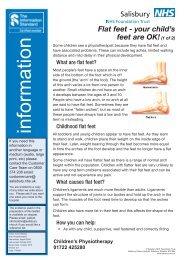Flat Feet PI0059 - ICID - Salisbury NHS Foundation Trust